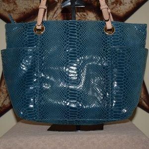 MICHAEL Michael Kors Bags - MICHAEL Michael Kors Blue Reptile Print